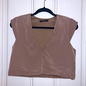 Forever 21 Taupe Crop Top